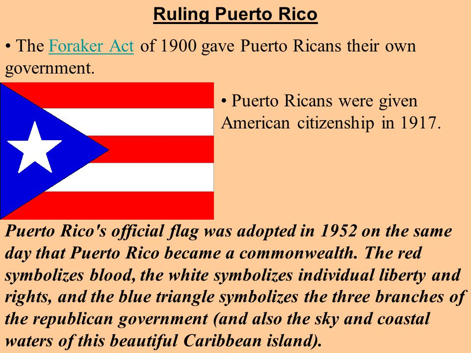 Puerto Ricans were given American citizenship in 1917.