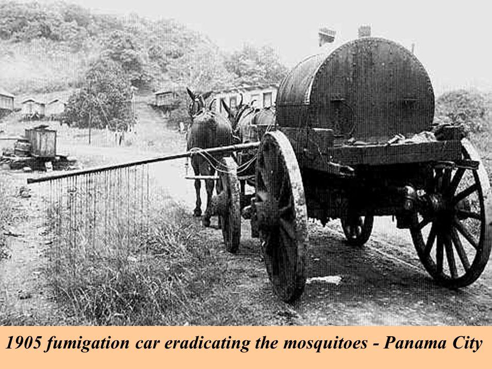 1905 fumigation car eradicating the mosquitoes - Panama City