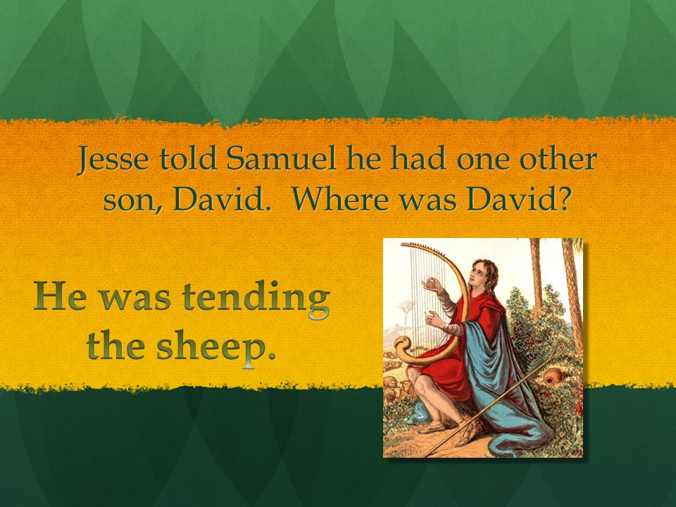 What did Samuel asked Jesse after he had seen the seven sons