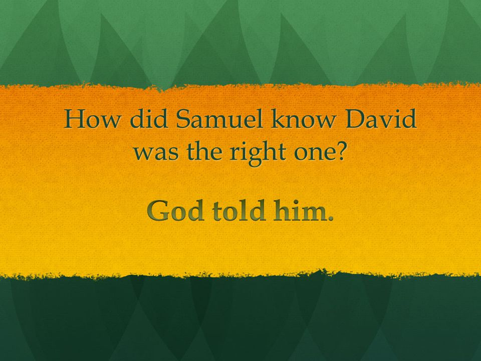 Who anointed David