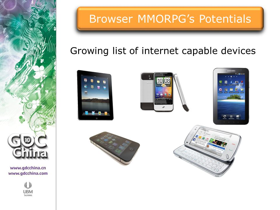 Growing list of internet capable devices Browser MMORPG's Potentials