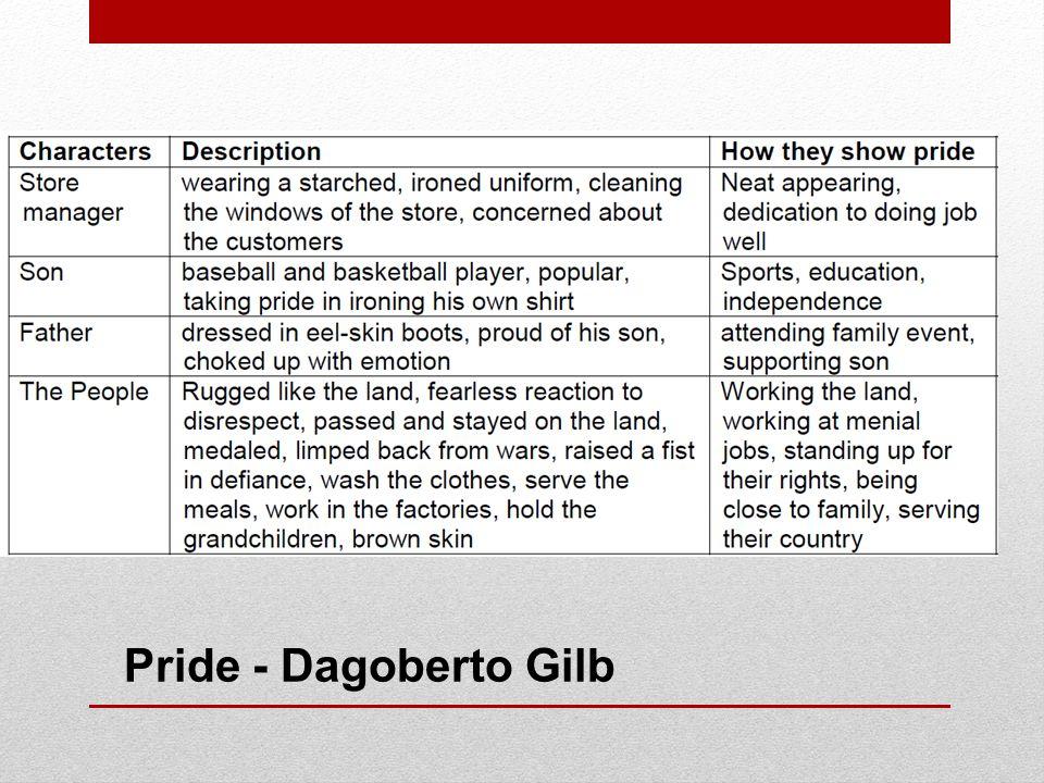 Pride - Dagoberto Gilb