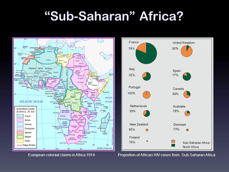 Sub-Saharan Africa.
