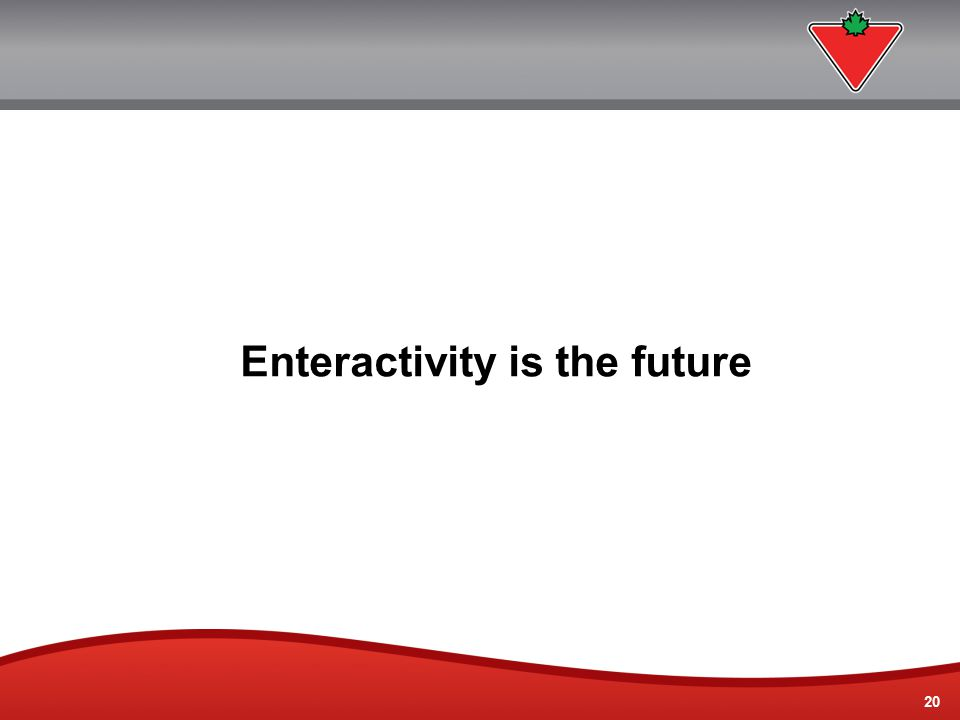 20 Enteractivity is the future
