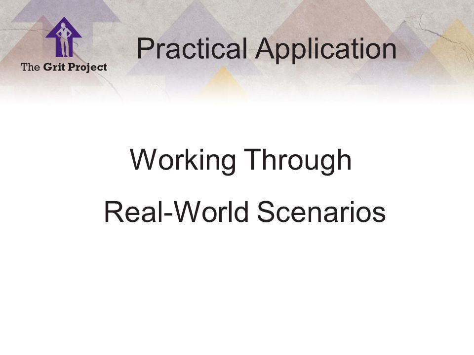 16 Copyright ©2014 Practical Application Working Through Real-World Scenarios