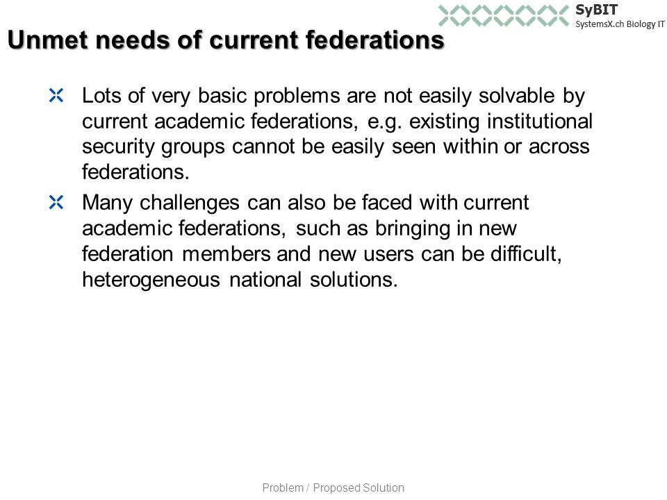 Lots of very basic problems are not easily solvable by current academic federations, e.g.