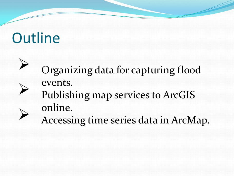 Organizing data for Flood events Create an observation datacart to organize the data required for flood analysis.