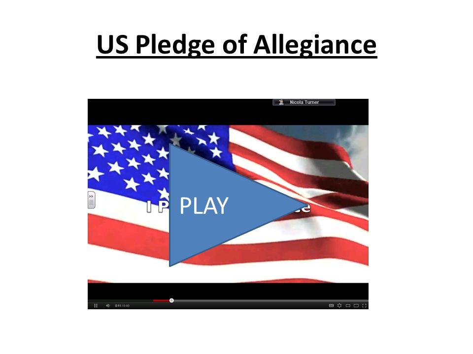 US Pledge of Allegiance PLAY