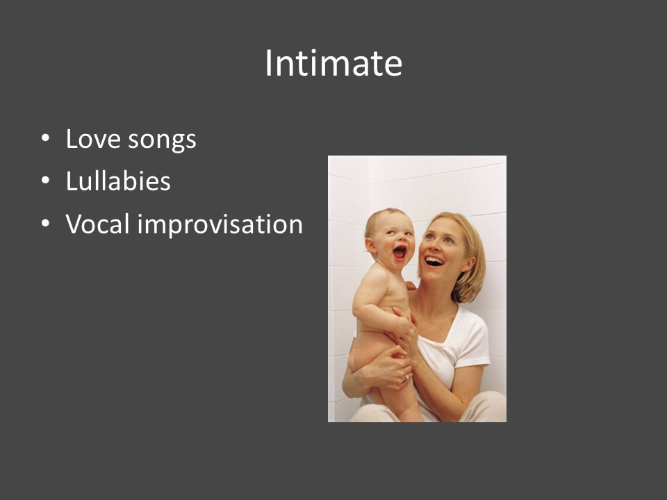 Language Levels: Music/text considerations Frozen Formal Conversational Intimate Neutral Informal