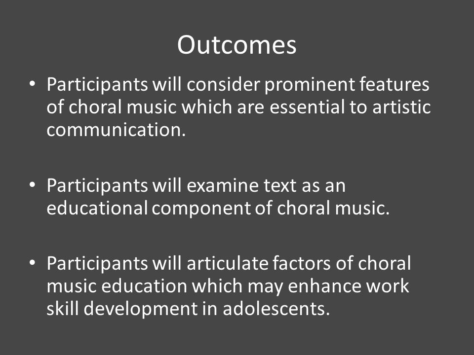 Prominent features of choral music which are essential to artistic communication.
