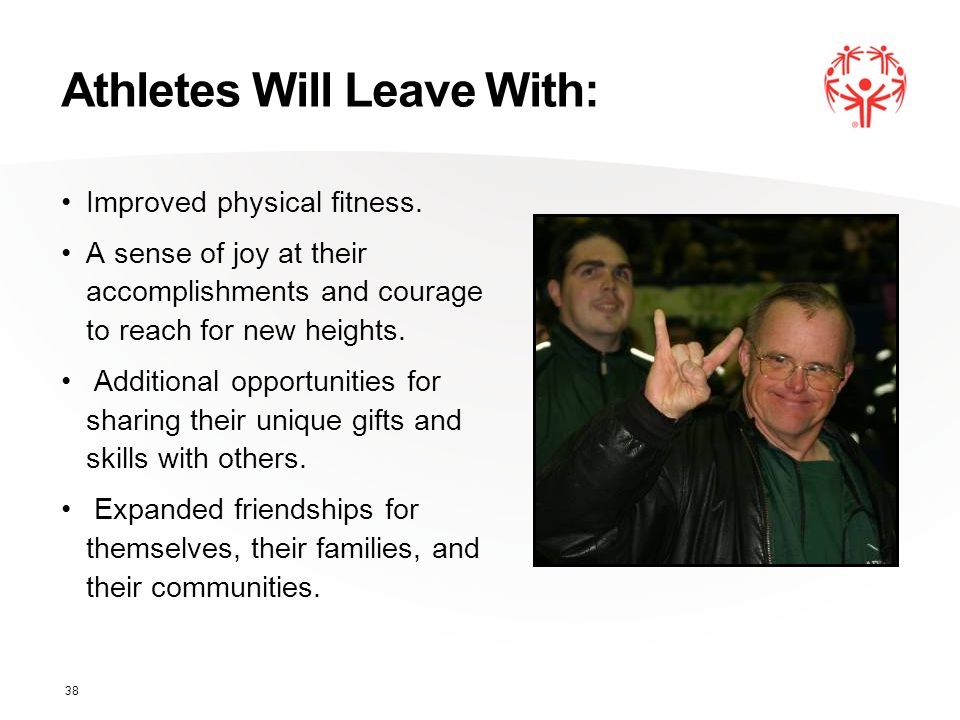Athletes Will Leave With: Improved physical fitness.