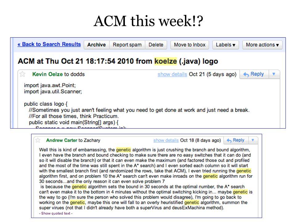 ACM this week!?