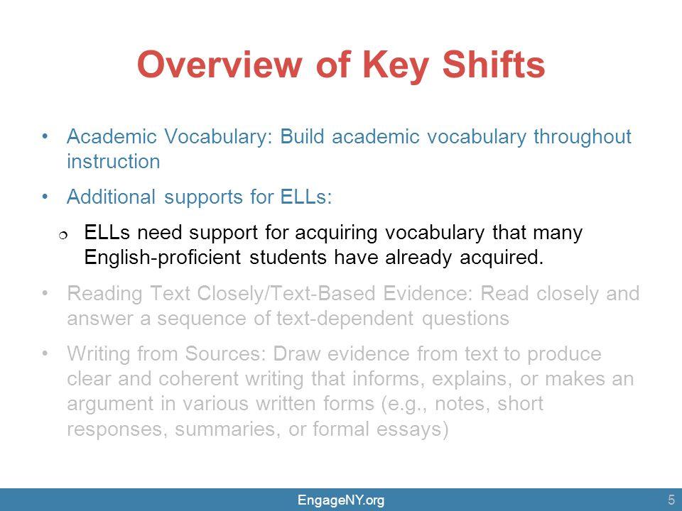 EngageNY.org Vocabulary Instruction: ELLs 16 Glossaries