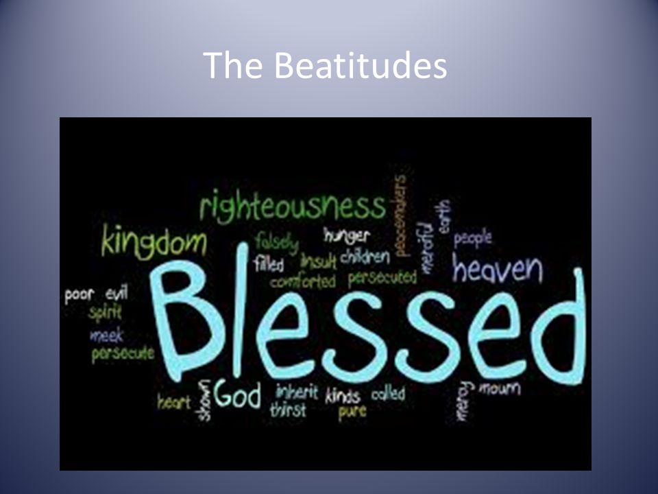 The Forth Beatitude Blessed are those who hunger and thirst for Righteousness, for they will be filled.