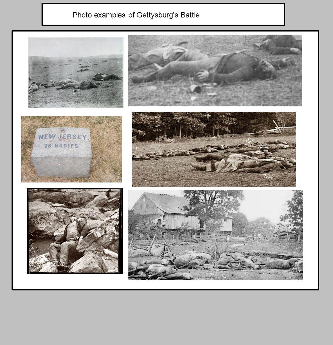 Photo examples of Gettysburg's Battle