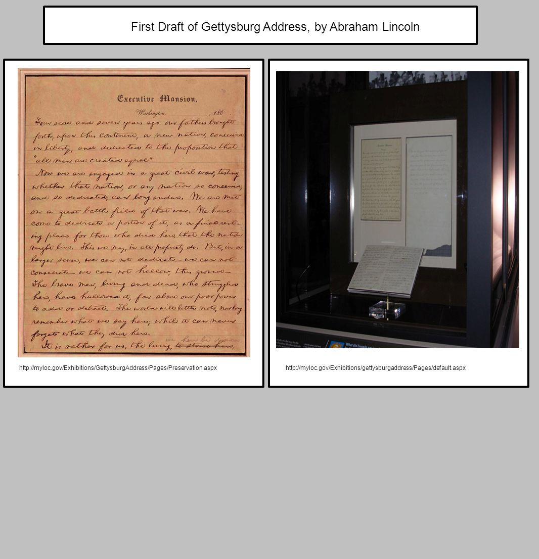 http://myloc.gov/Exhibitions/GettysburgAddress/Pages/Preservation.aspxhttp://myloc.gov/Exhibitions/gettysburgaddress/Pages/default.aspx First Draft of
