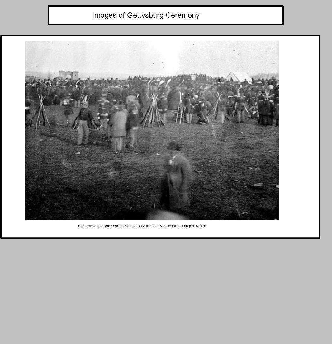 Images of Gettysburg Ceremony