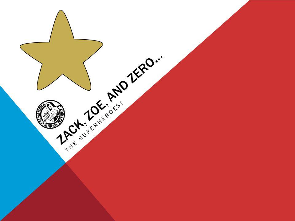 ZACK, ZOE, AND ZERO… THE SUPERHEROES!