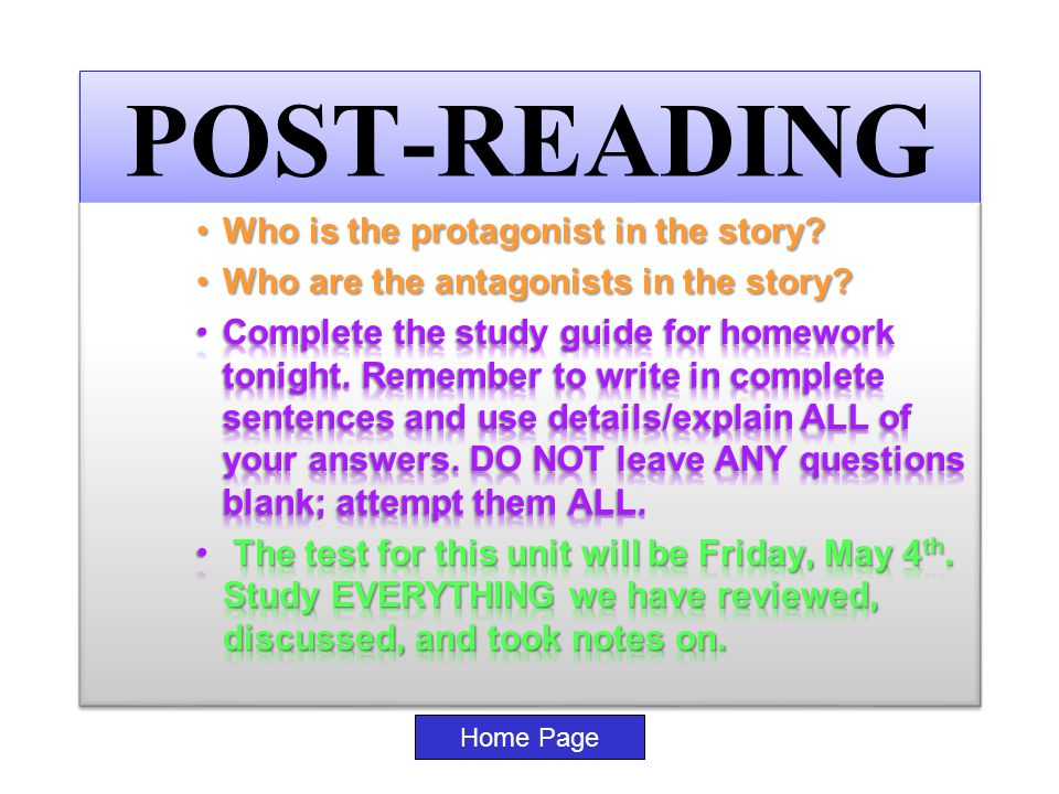 POST-READING Home Page