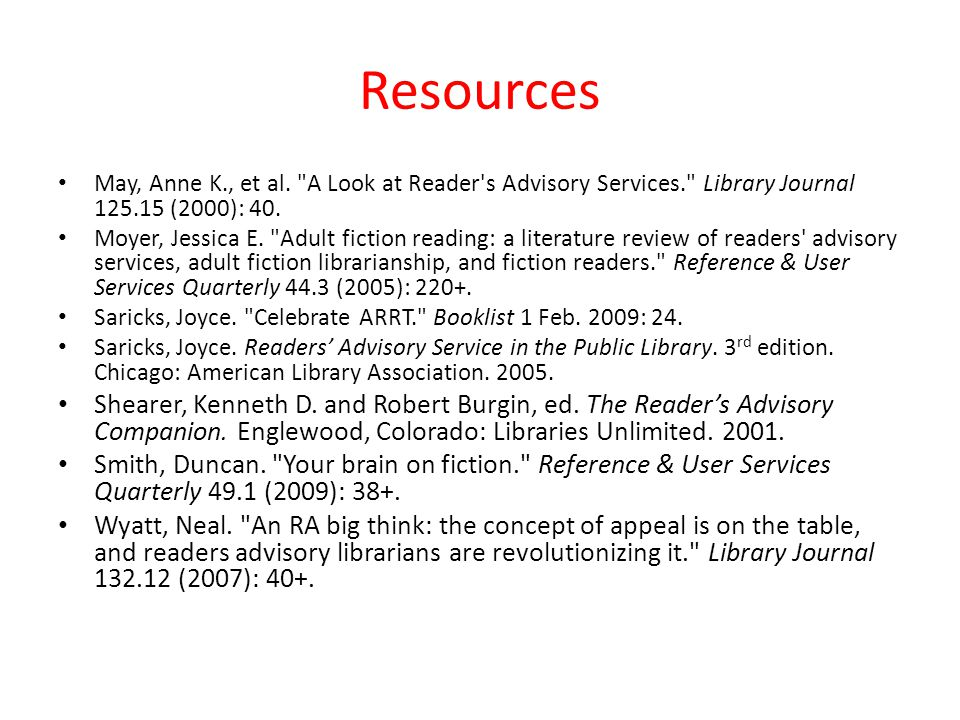 Resources May, Anne K., et al.