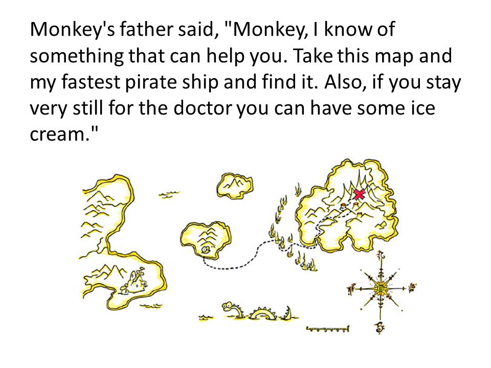 Monkey's father said,