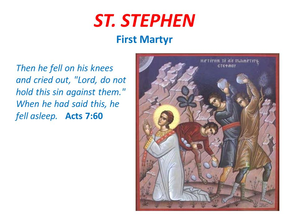 1) How was St.Stephen able to see God. He was brave 2) How was St.