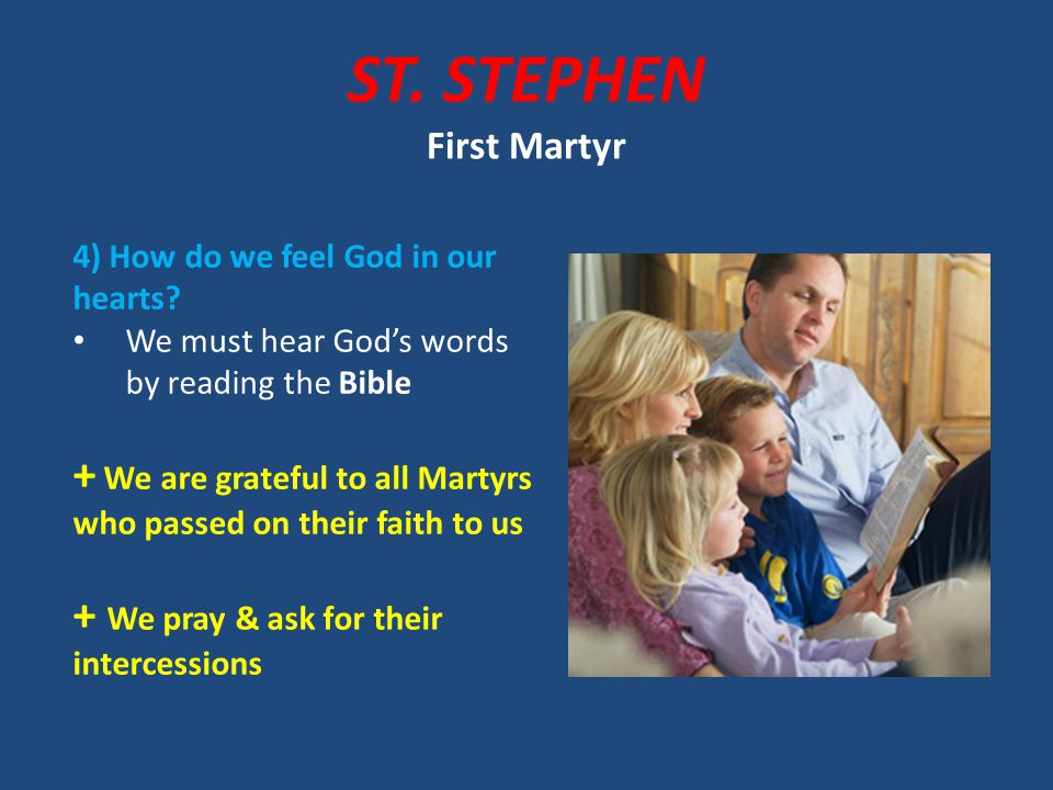 Praying Pray before dinner ask for intercession of St.