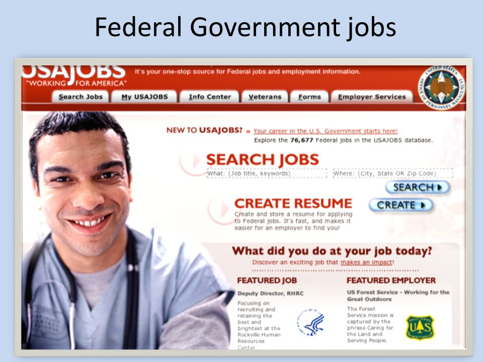 Federal Government jobs 30