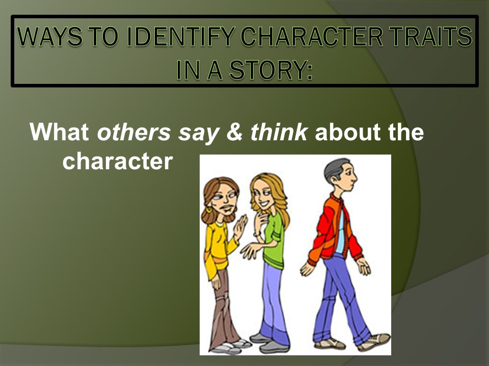 What others say & think about the character