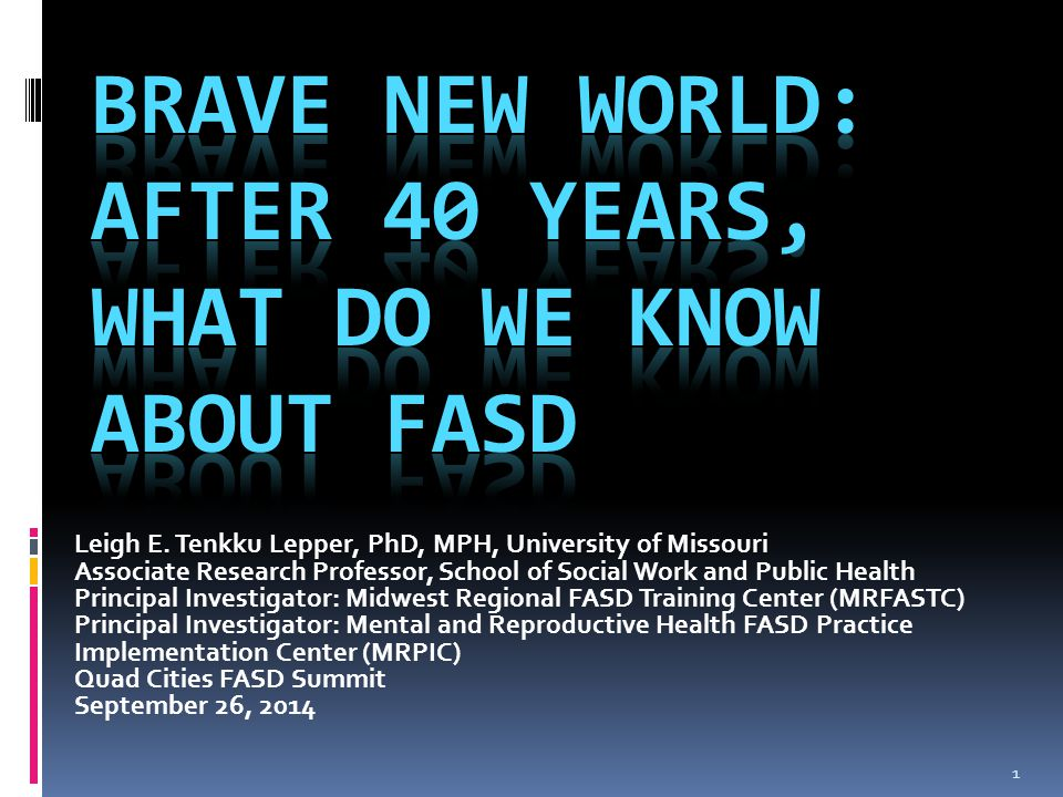 1 Leigh E. Tenkku Lepper, PhD, MPH, University of Missouri Associate Research Professor, School of Social Work and Public Health Principal Investigato
