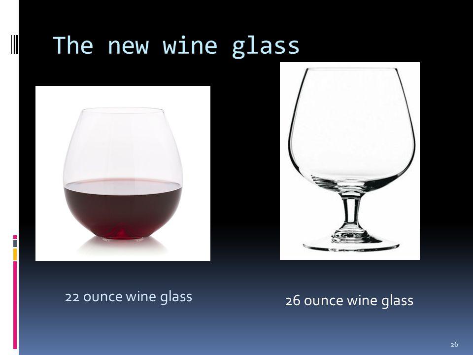 The new wine glass 22 ounce wine glass 26 26 ounce wine glass