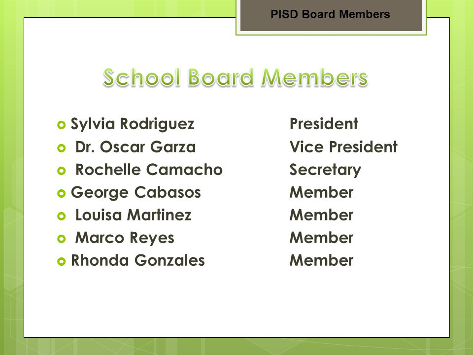  Dr.Garth Oliver Principal  Ms. Linda Chavera Asst.-Principal  Mr.