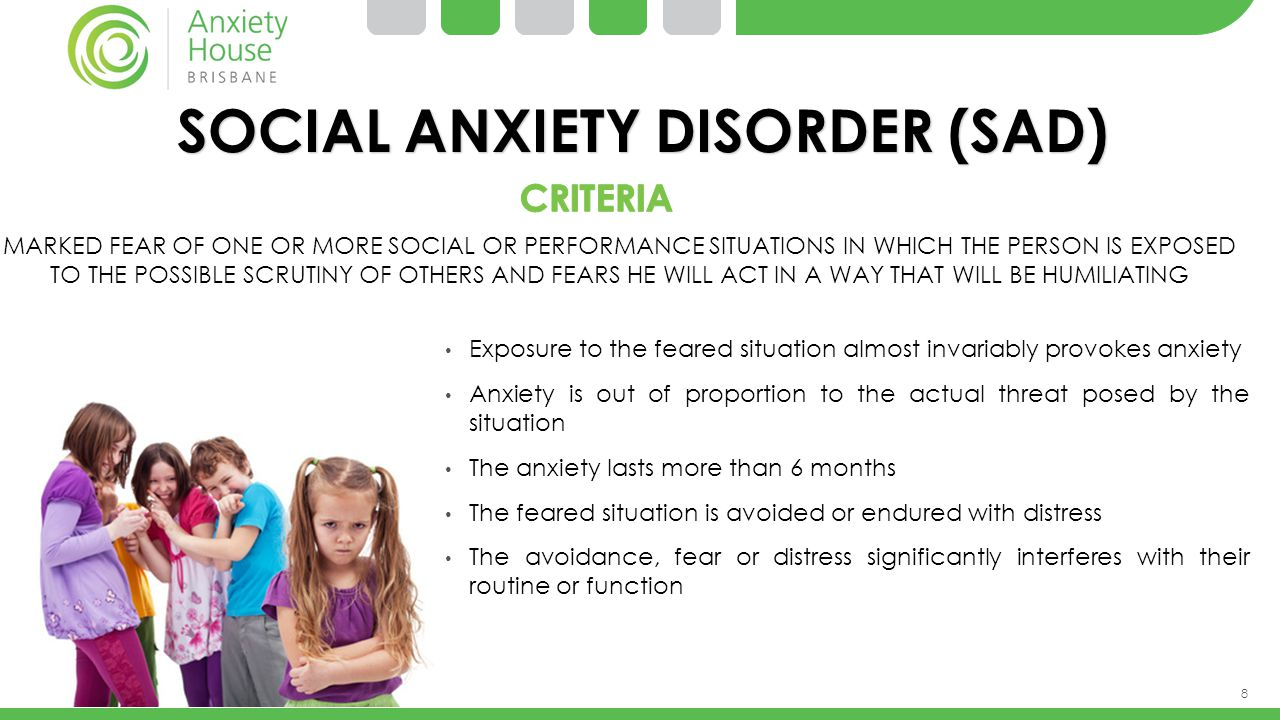 9 SOCIAL ANXIETY DISORDER – THE FACTS.