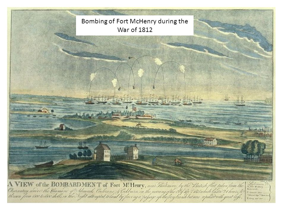 Bombing of Fort McHenry during the War of 1812