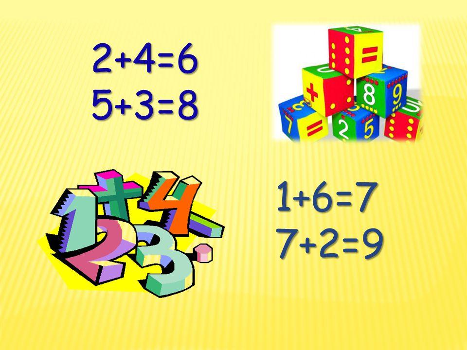 2+4=6 5+3=8 5+3=8 1+6=77+2=
