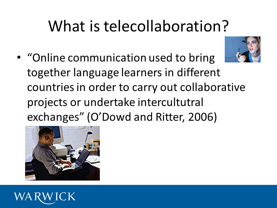 What is telecollaboration.