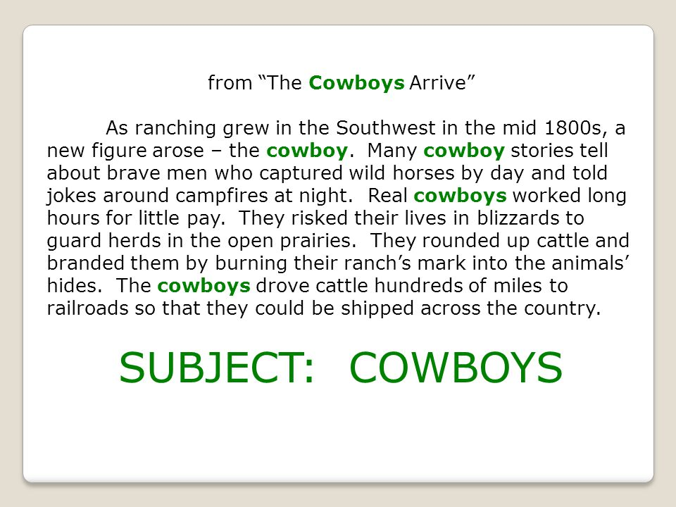 from The Cowboys Arrive As ranching grew in the Southwest in the mid 1800s, a new figure arose – the cowboy.