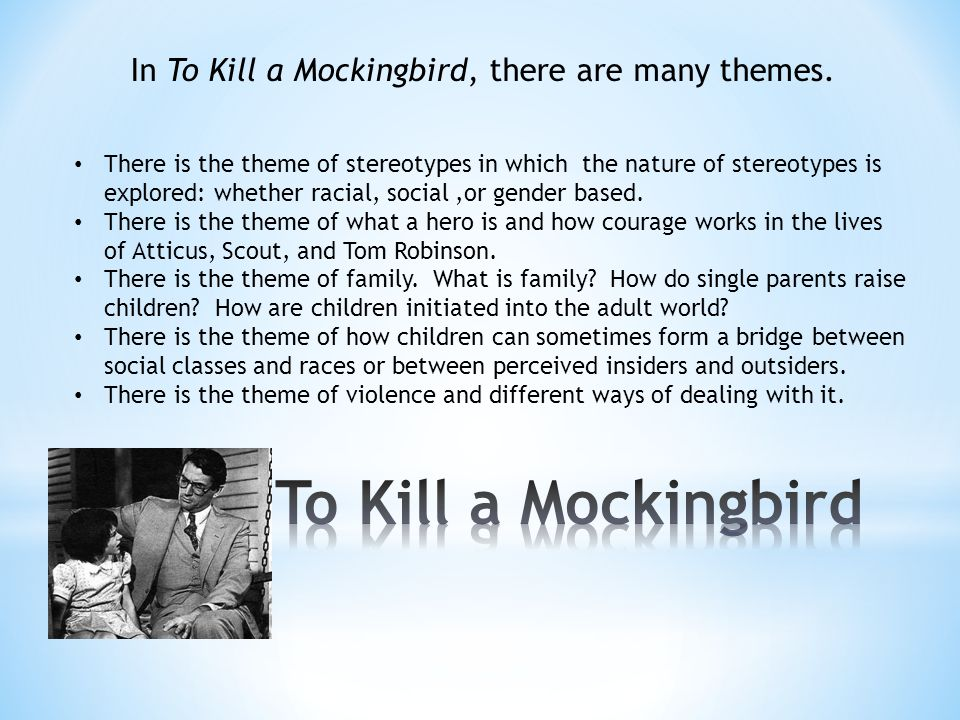 essays themes kill mockingbird As one of the most profound novels of 20th-century american literature, to kill a mockingbird contains in its pages a number of profound themes.