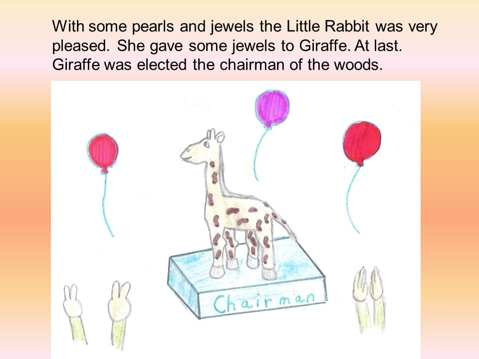 With some pearls and jewels the Little Rabbit was very pleased.