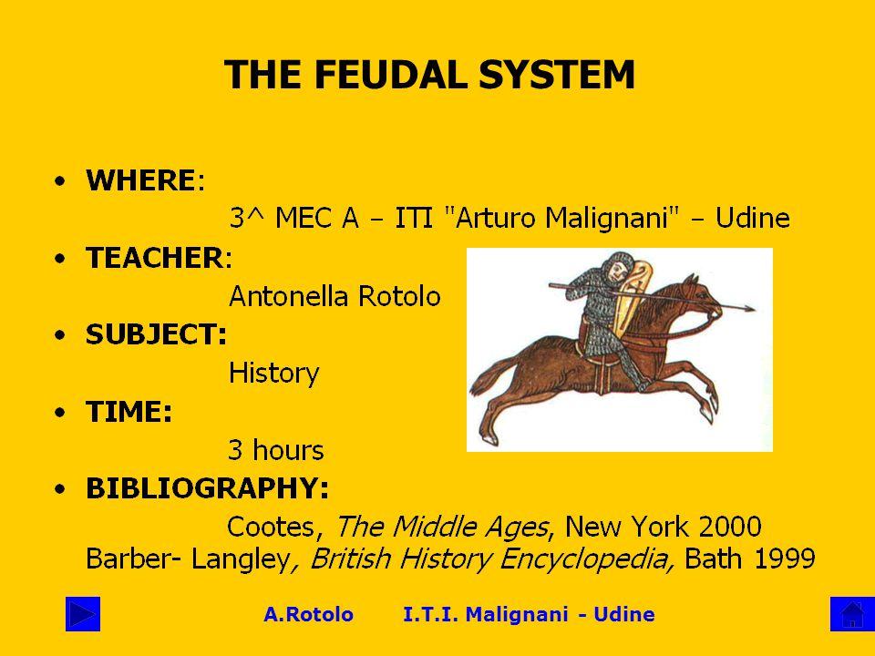 A.Rotolo I.T.I. Malignani - Udine THE FEUDAL SYSTEM