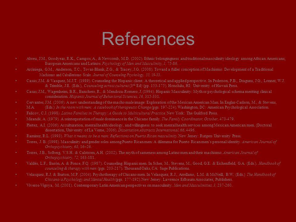 References Abreu, J.M., Goodyear, R.K., Campos, A., & Newcomb, M.D.