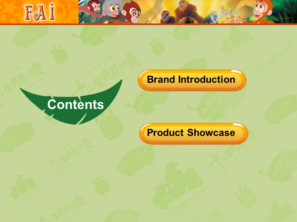 Product Showcase Brand Introduction Contents