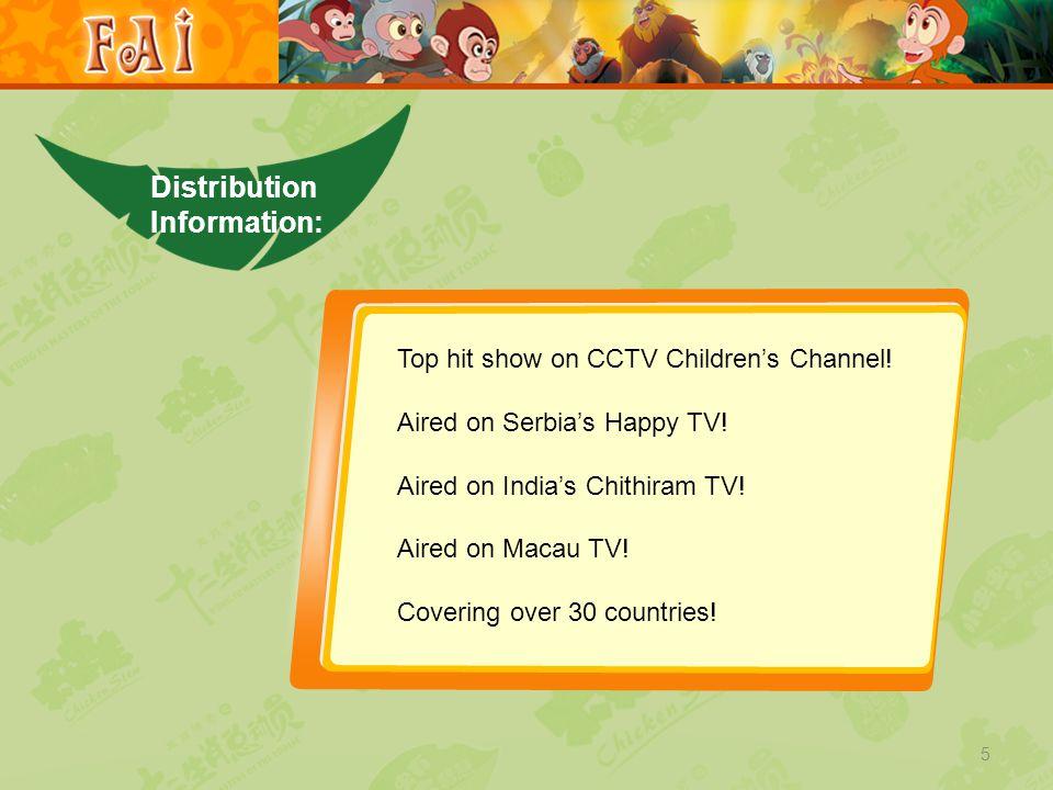 5 Distribution Information: Top hit show on CCTV Children's Channel.