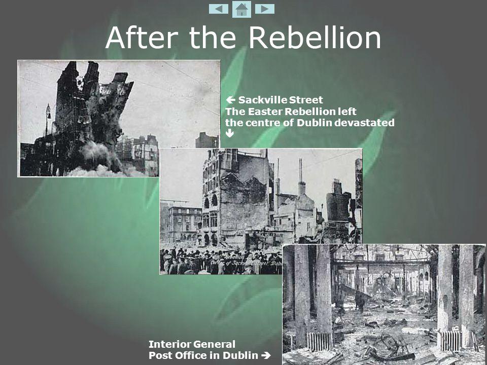 After the Rebellion Interior General Post Office in Dublin   Sackville Street The Easter Rebellion left the centre of Dublin devastated 