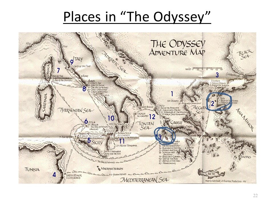 Places in The Odyssey 22