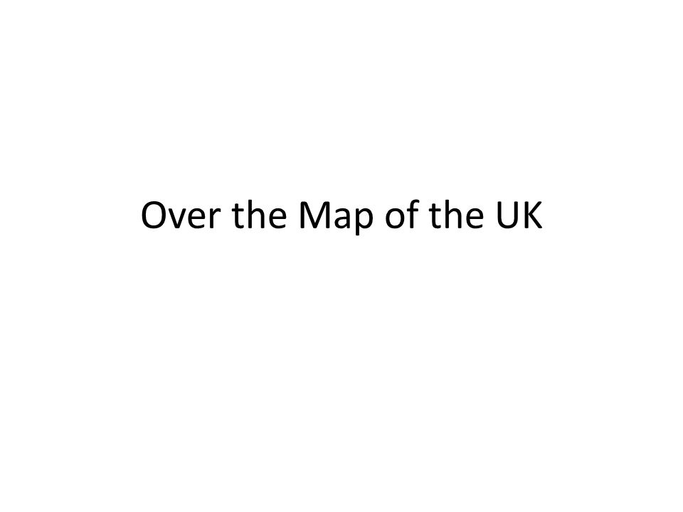 Over the Map of the UK