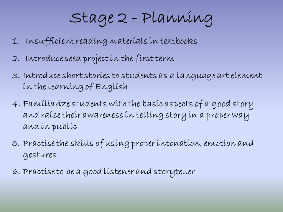 Stage 3 - Actions 1.3 sets of story books and worksheets were integrated into the curriculum of different classes.