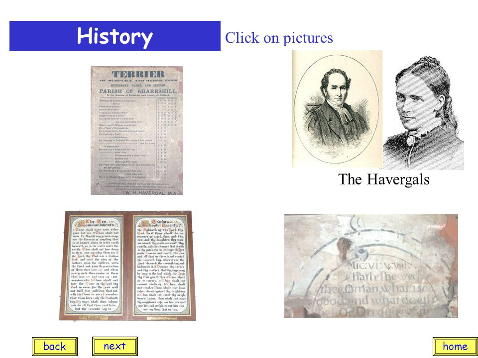 History The Havergals Click on pictures home next back