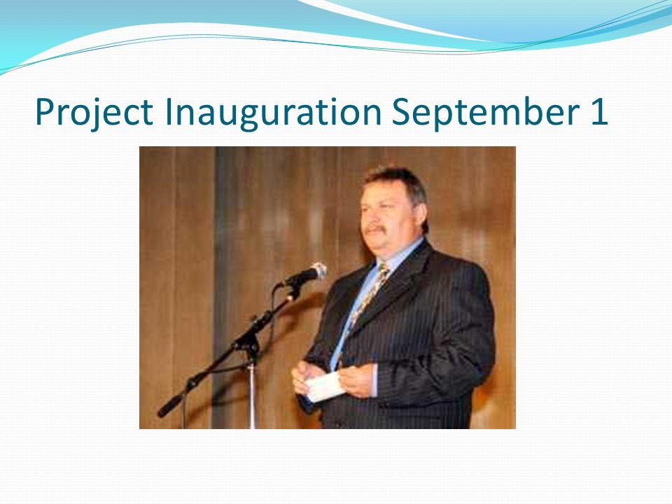 Project Inauguration September 1