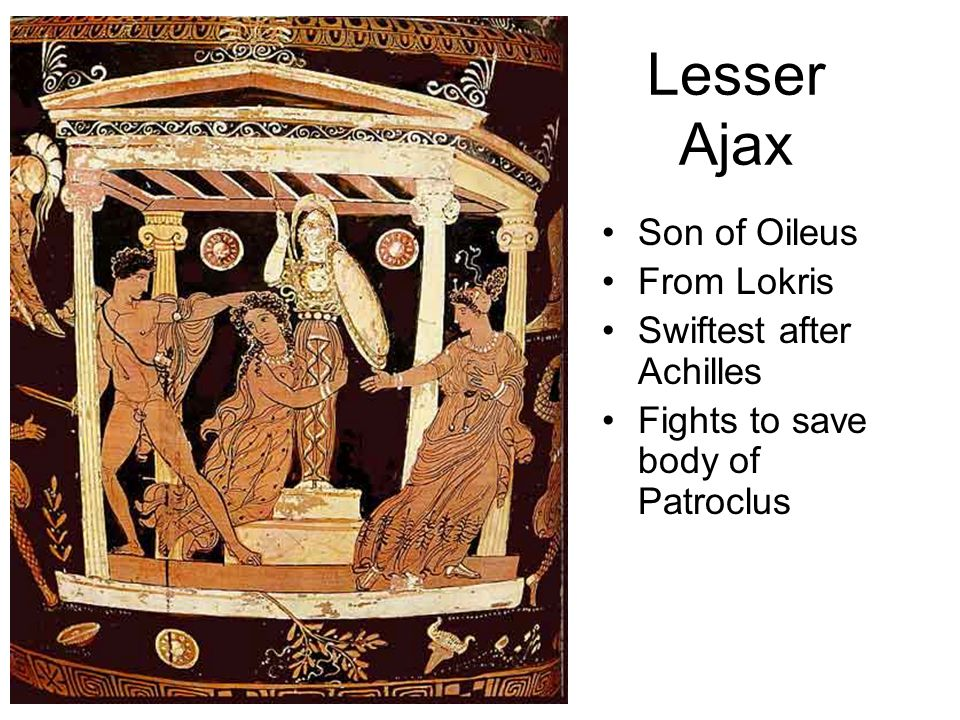 Lesser Ajax Son of Oileus From Lokris Swiftest after Achilles Fights to save body of Patroclus